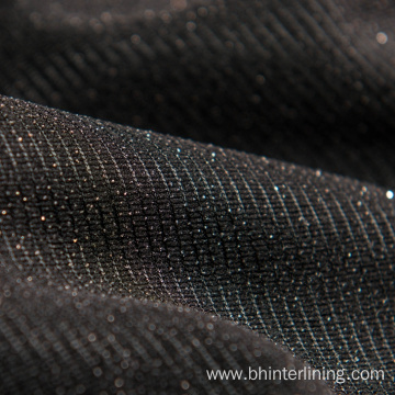 Elastic polyester tricot knitted fusing interlining fabric
